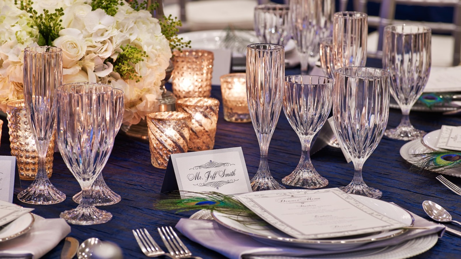 Elegant Wedding Venues In Downtown San Diego - Place Setting
